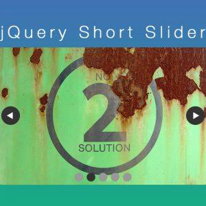 jQuery プラグイン[ jQuery Short Slider ]を公開しました。